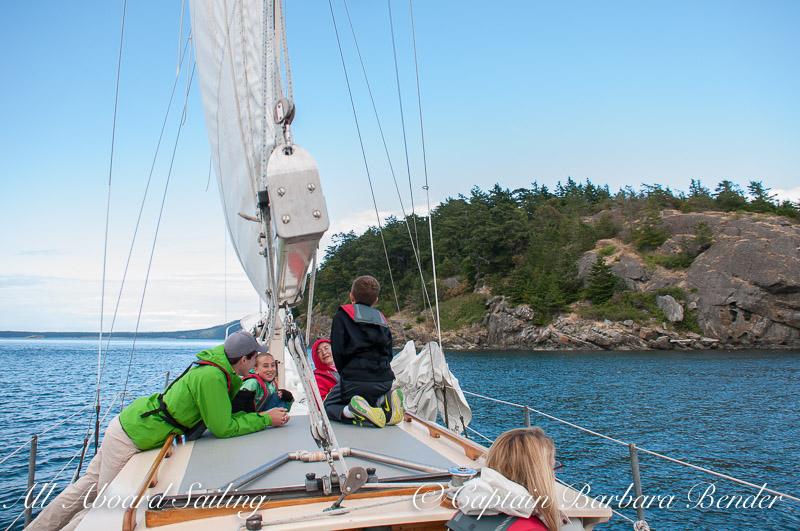 Sailing in the San Juan Islands