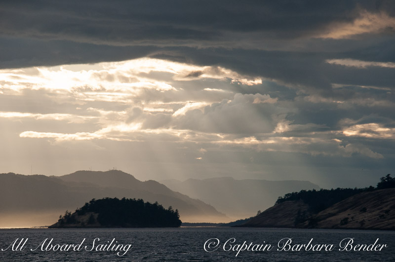 Rays of light on Sentinel Island