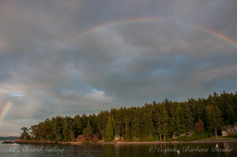 Rainbow from Friday Harbor