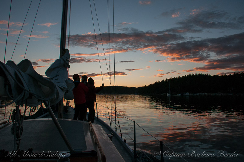 Sailing back to Port of Friday Harbor