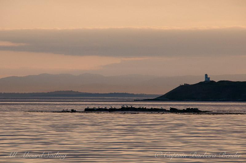 Sunset over Cattle Point Light