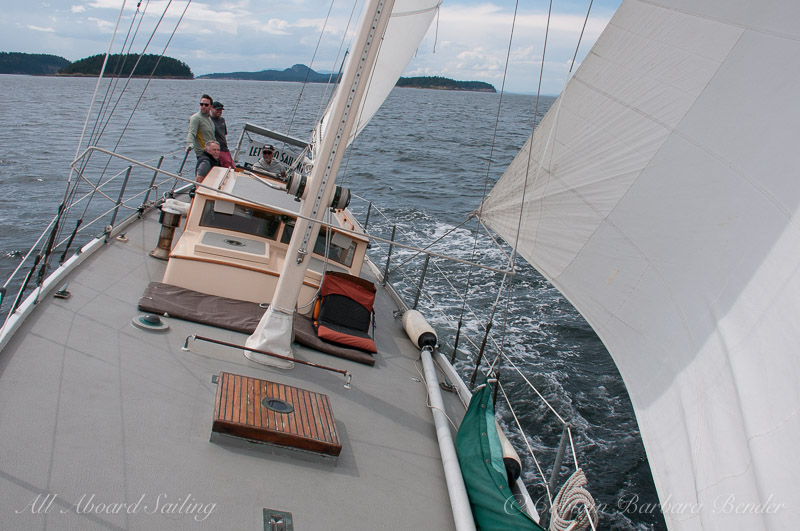 Picking up speed under sail