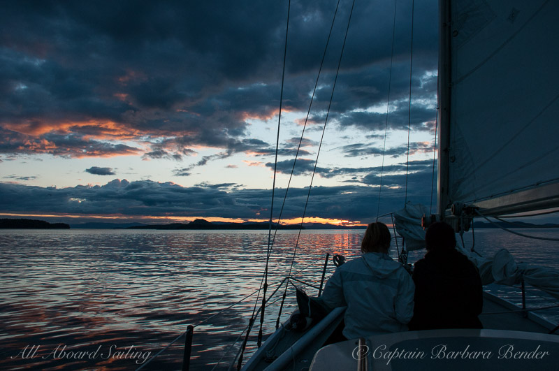 Sunset Sailing San Juan Island