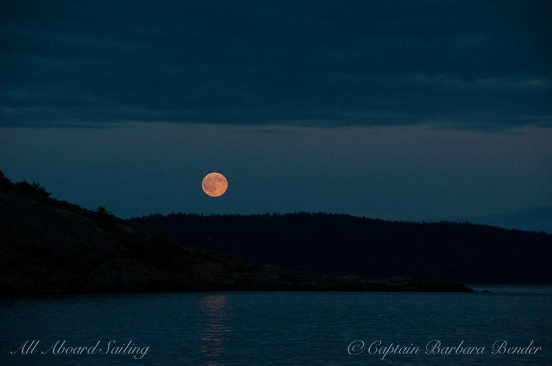 Full Moon rise Sail