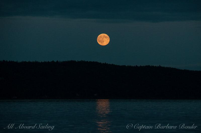 Moon Rise over Orcas Island