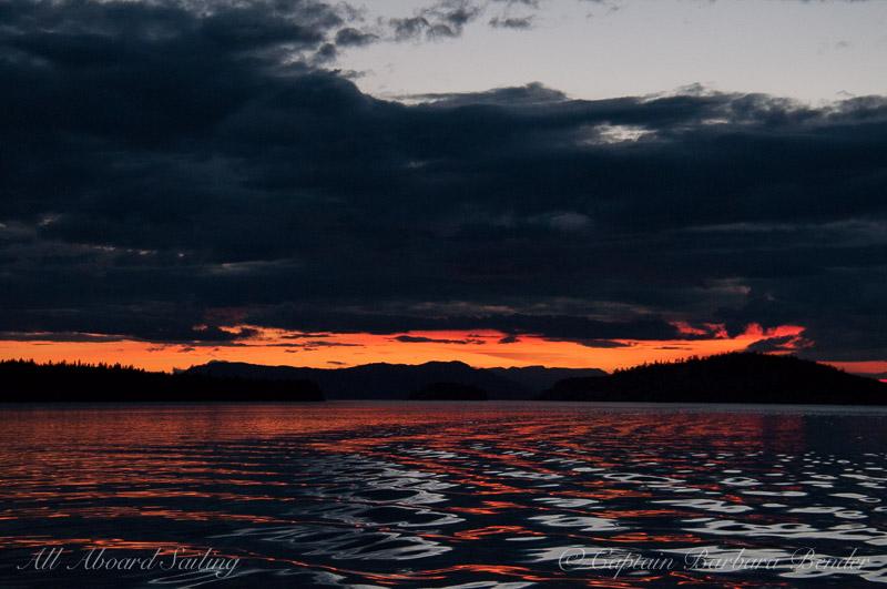 Sunset Sail in the San Juan Islands