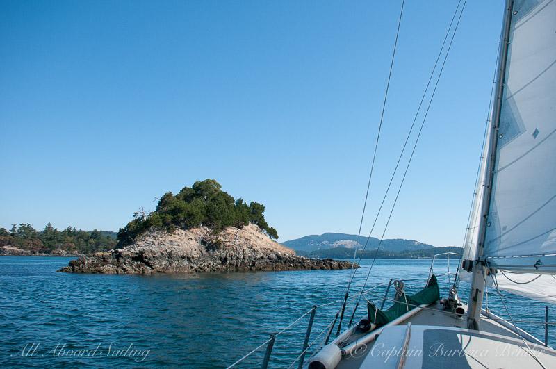 Nob Island at low tide