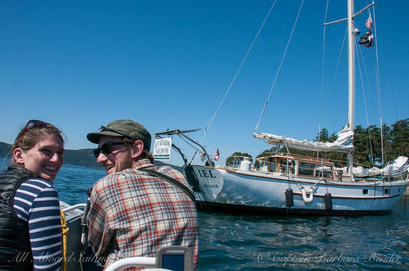 Anchored to go ashore