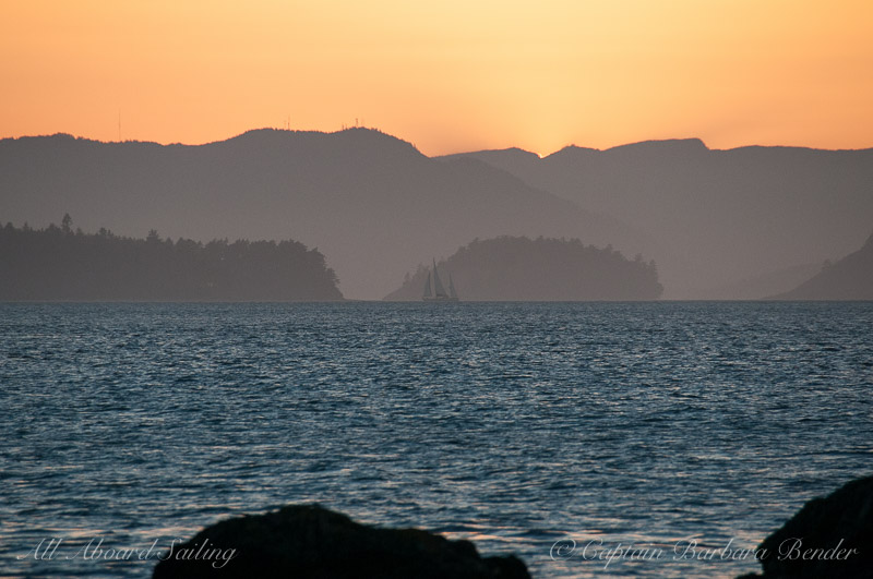 Sunset Sailing San Juan islands