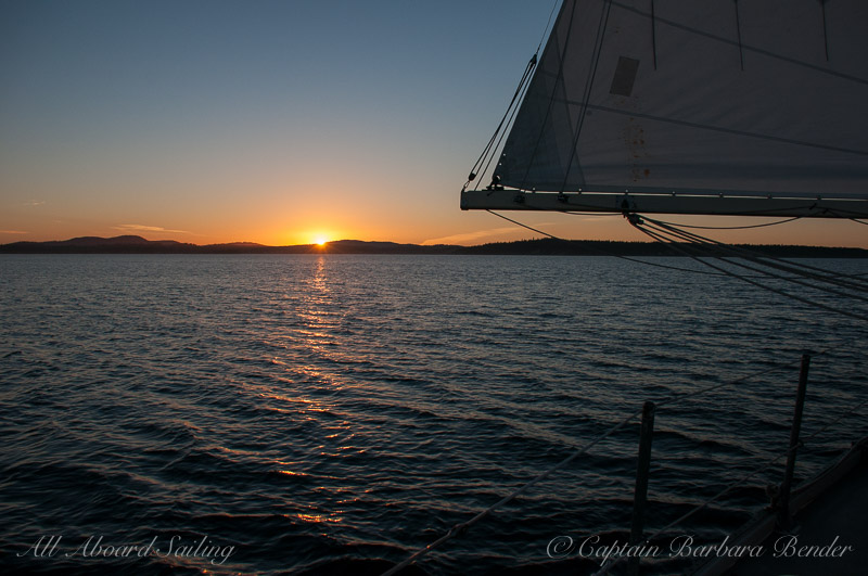 Heading back to port at sunset