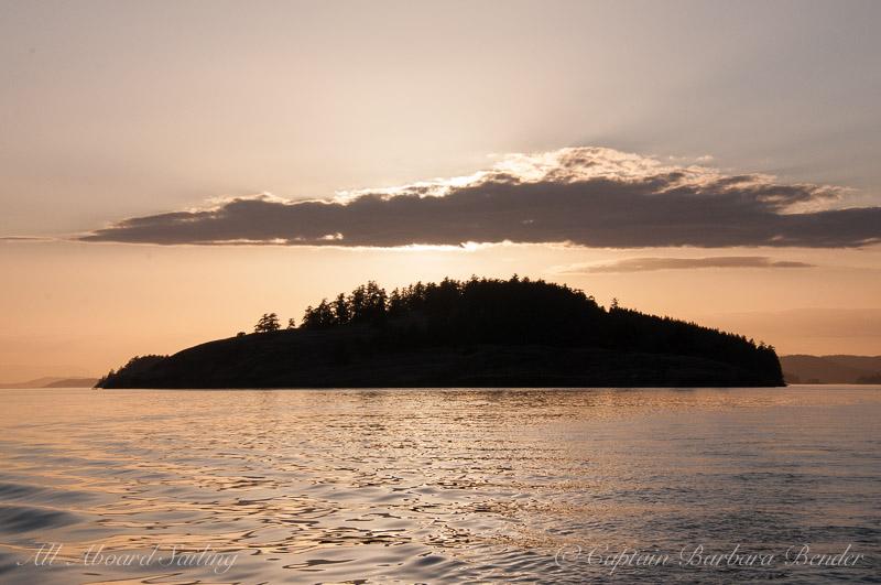Spieden Island at sunset