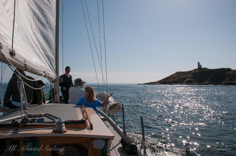 Sailing through Cattle Pass