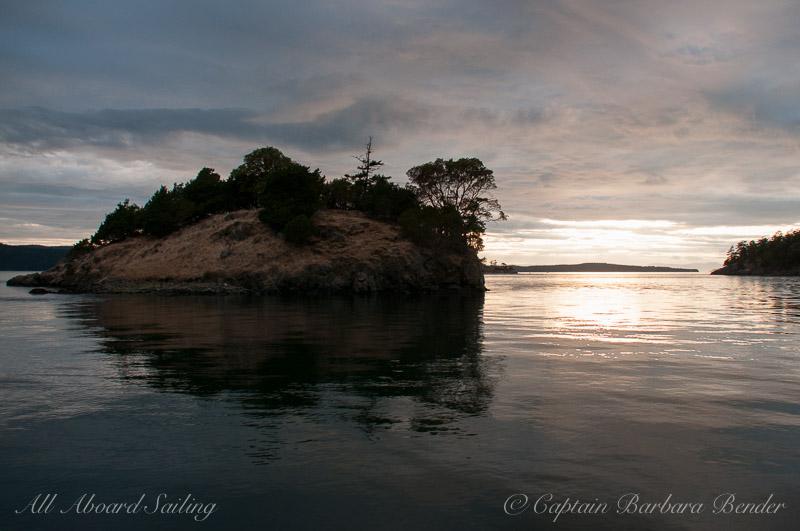 Nob Island at Sunset