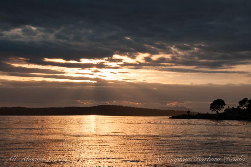 Sunset sail San Juan Island