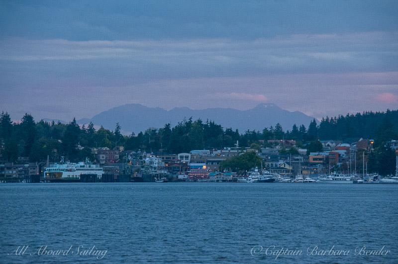 Friday Harbor at dusk