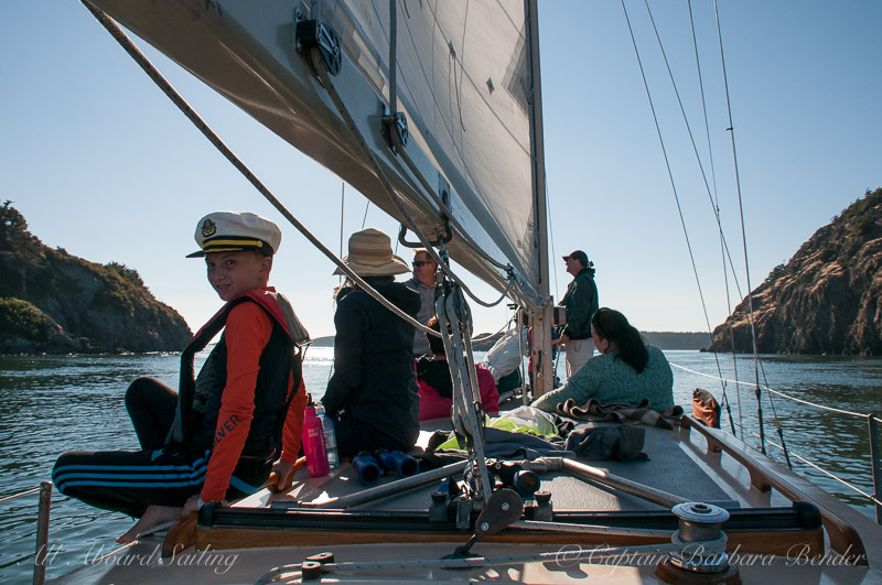 Sailing South of Lopez Island