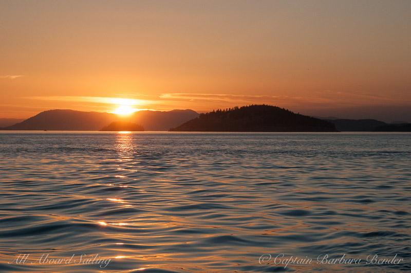 Sunset in Spieden Channel