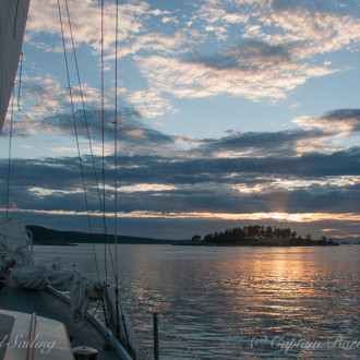 Sunset Sail around Spieden Island