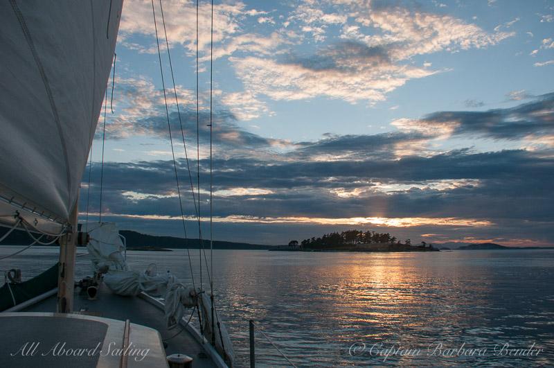 Sunset Sail Yellow island