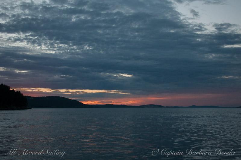Sunset San Juan Channel