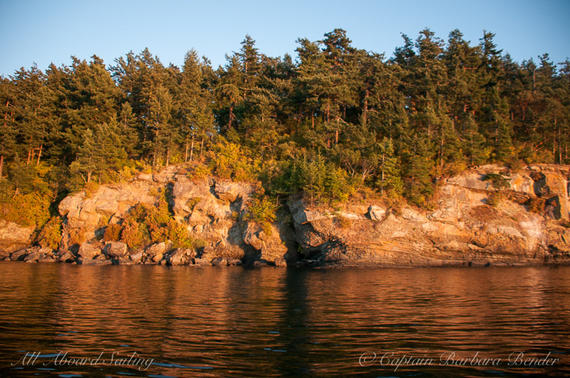 Flattop Island at sunset