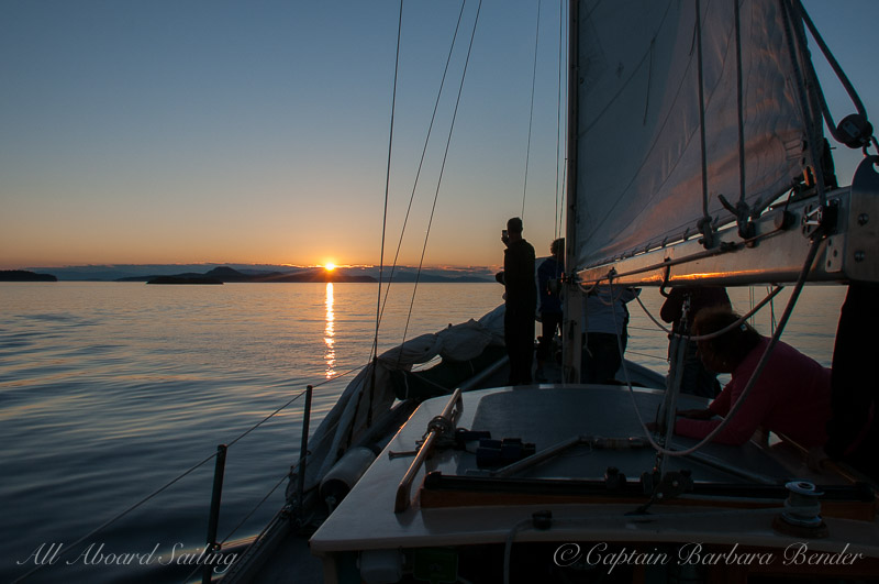 Sunset Sail,  Stuart Island