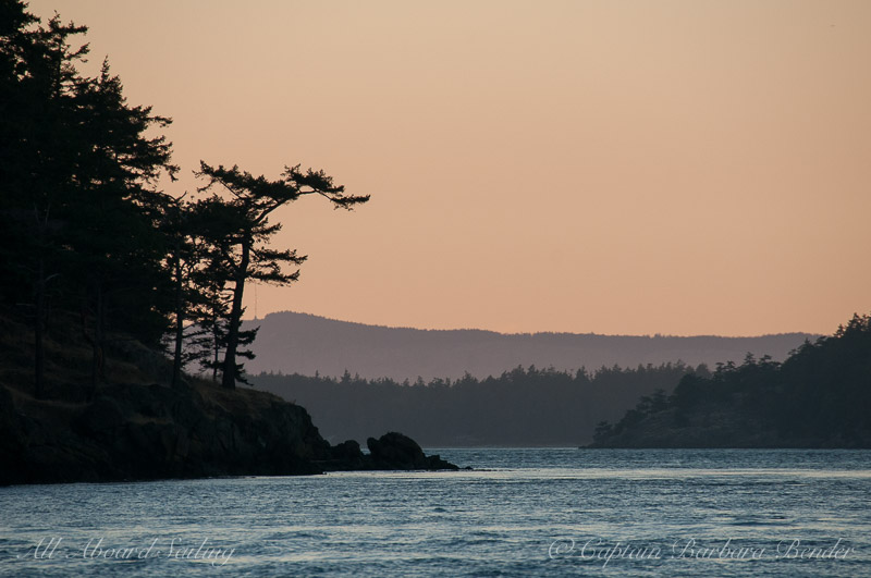 Sunset over San Juan Island