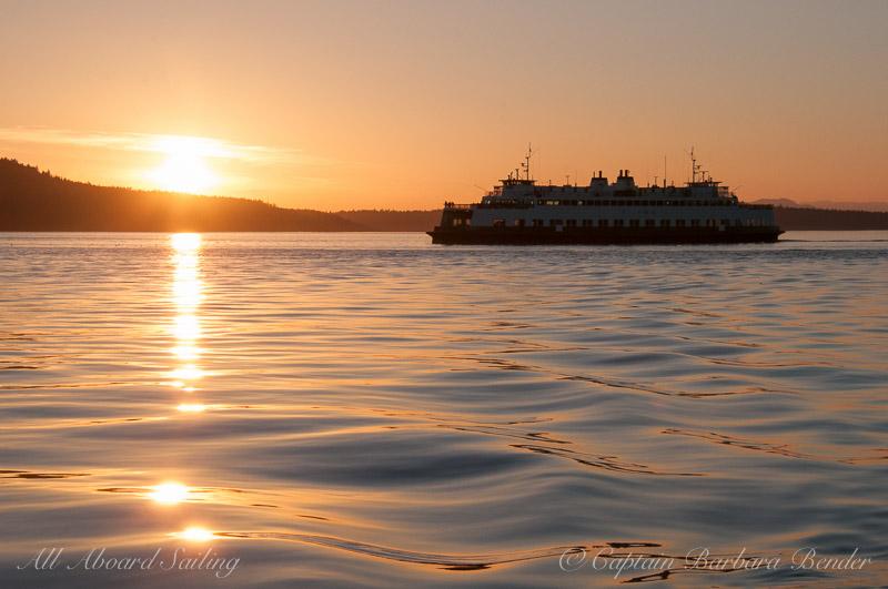 WA State Ferry - San Juan Channel Sunset