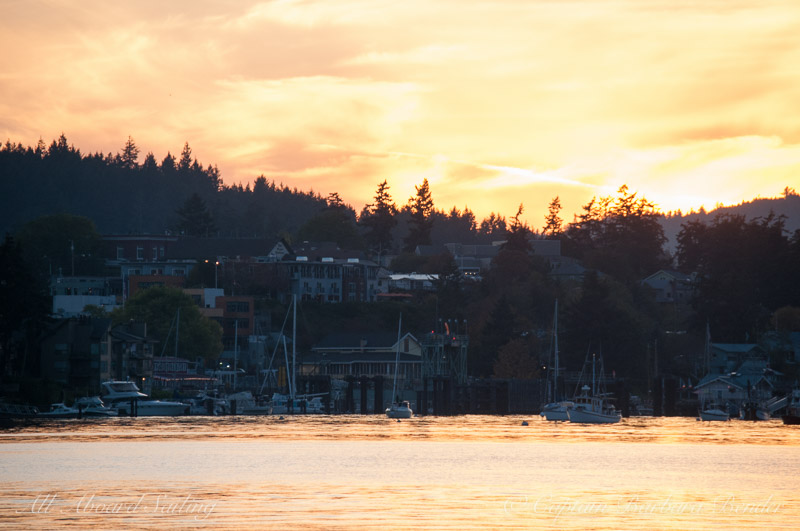 Friday Harbor at sunset