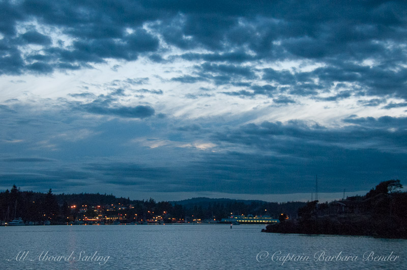Friday Harbor at dusk