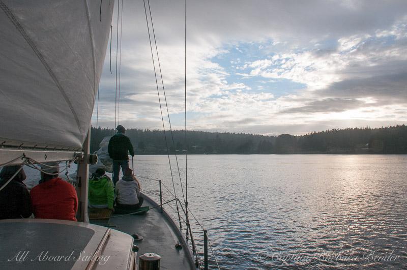 Sailing back to Friday Harbor, San Juan Island