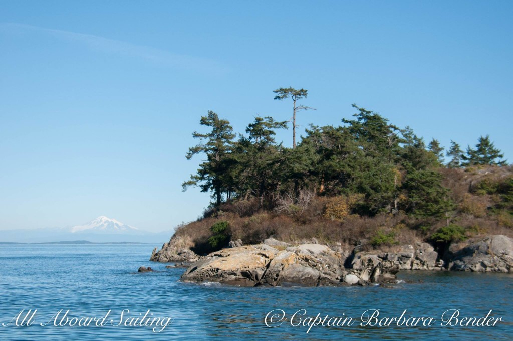 Blunden Island and Mount Baker