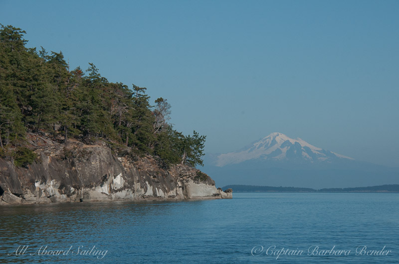 Saturna Island and Mt Baker