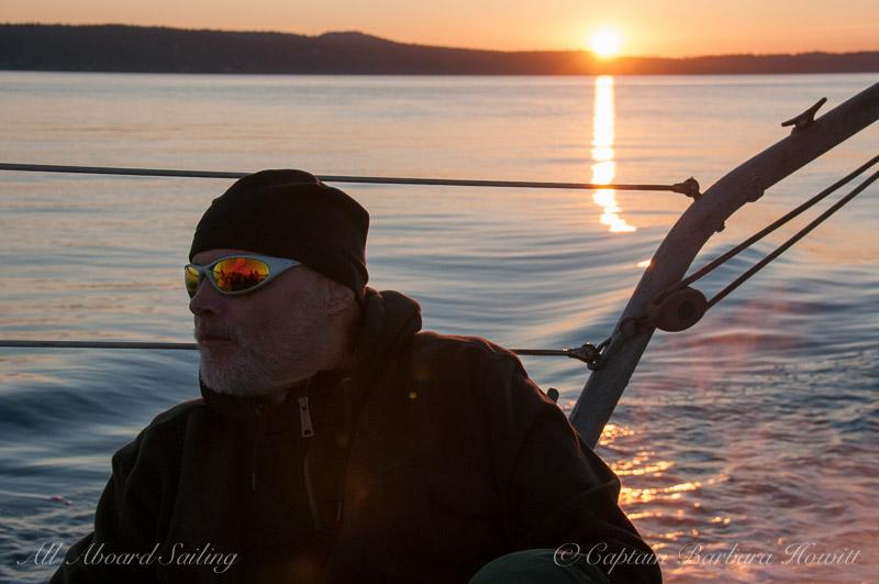 Sailing back at sunset