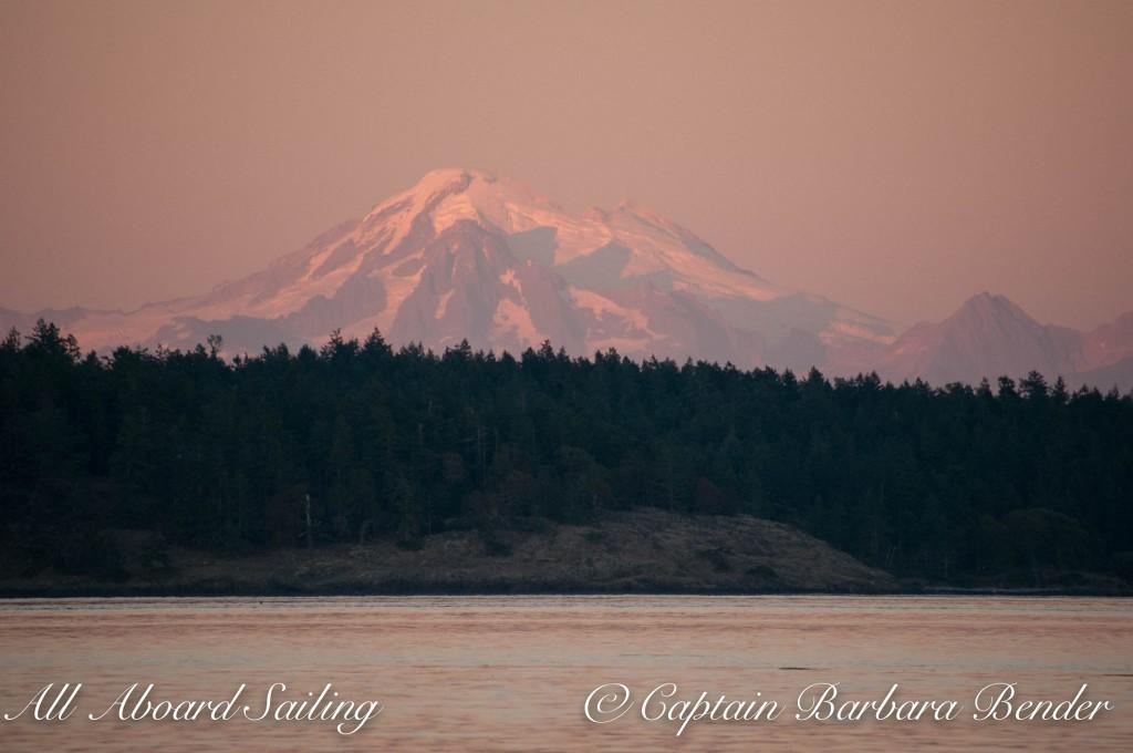Mount Baker in the sunset light