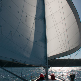 Sailing with a new roller furled Genoa