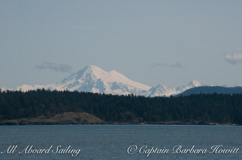 Mount Baker over Shaw Island