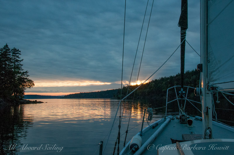 Sailing our from Deer Harbor, Orcas Island