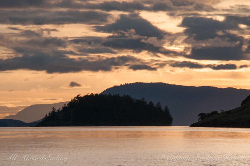 Sunset over Sentinel Island