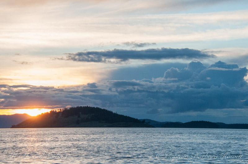 Sunset over Spieden Island