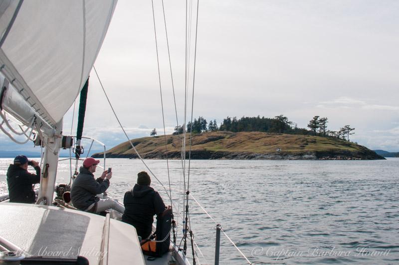 Sailing to Green Pt, Spieden Island