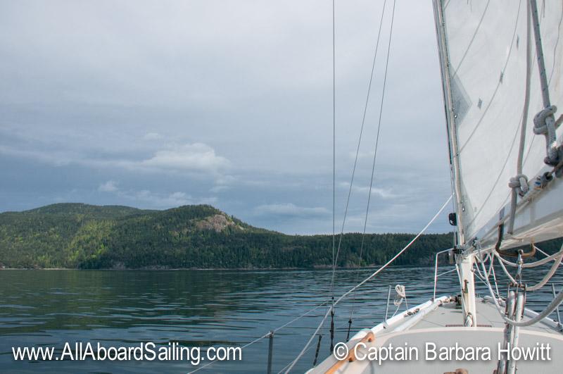 Sailing back to Friday Harbor - looking at Orcas Island