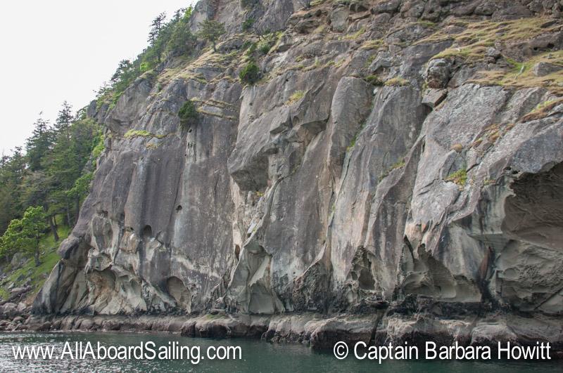 Cliffs on Saturna Island