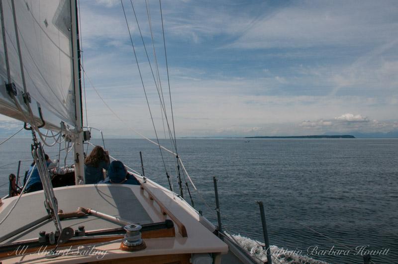 Sailing into the Straits of Georgia