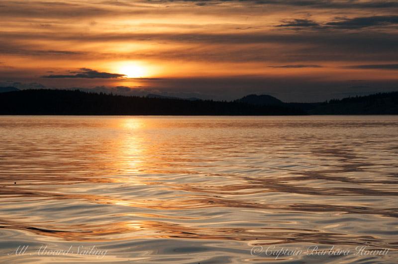 Sunset reflections San Juan Channel