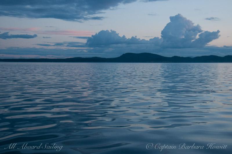 Sailing near dusk