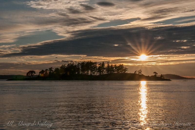 Sunset over Yellow Island