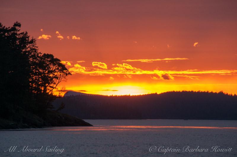 Sunset from Point Caution, San Juan Island