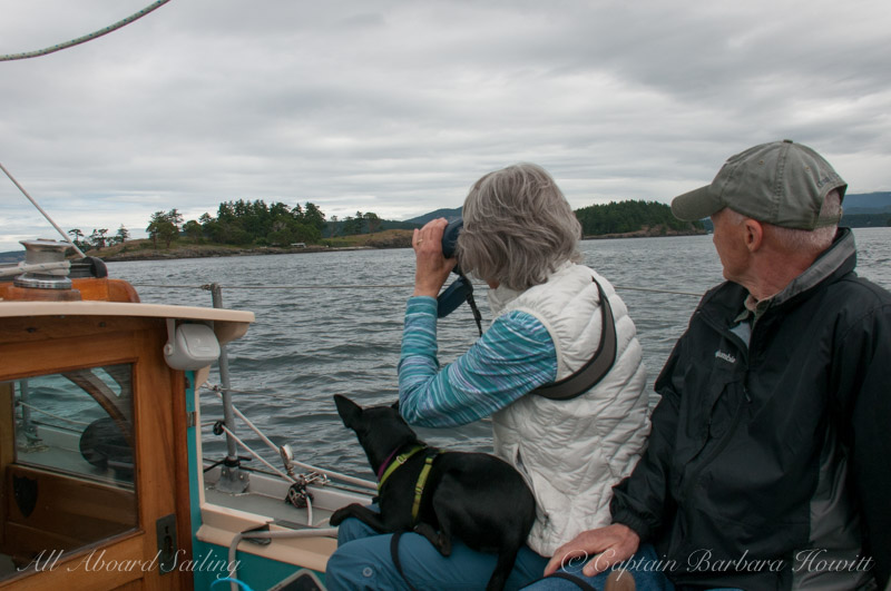 Sailing near Yellow Island