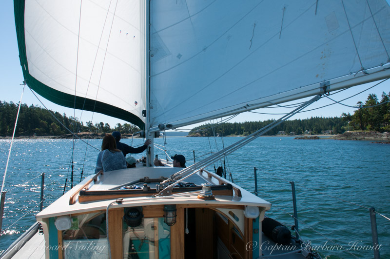 Downwind sailing around Turn Island